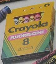 Crayola Fluorescent Colors Glow in Black Light -