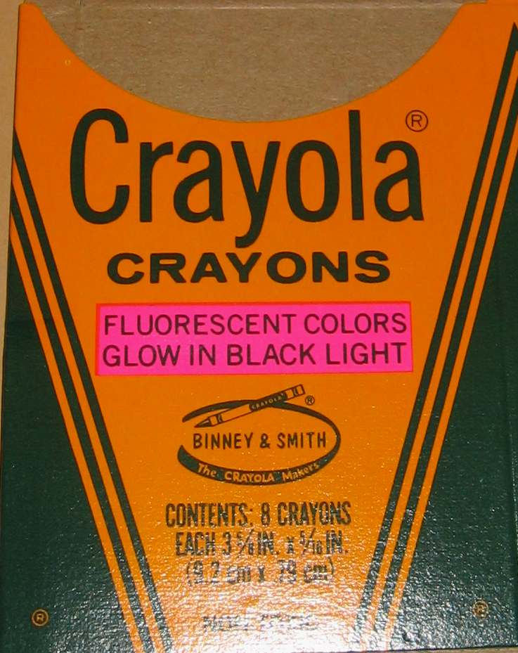 Crayola Fluorescent (wavy trap pink oval) - 8