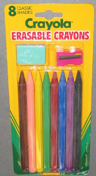 Crayola Erasable Crayons - 8 colors