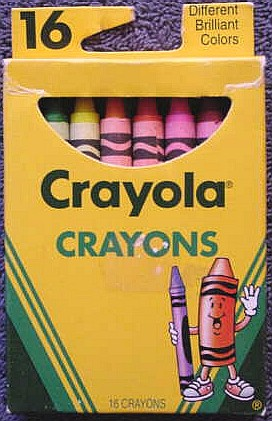 Crayola No 16 (fat lettering red Tippy) - 16 colors