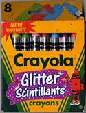 Crayola Glitter Scintillants (Canada Tip) - 8 colors