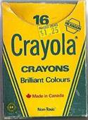 Crayola No 16 (Canadian Hex stamp upper right) - 16